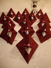 cajitas piramide en origami