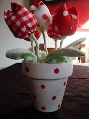 los tulipanes rojos