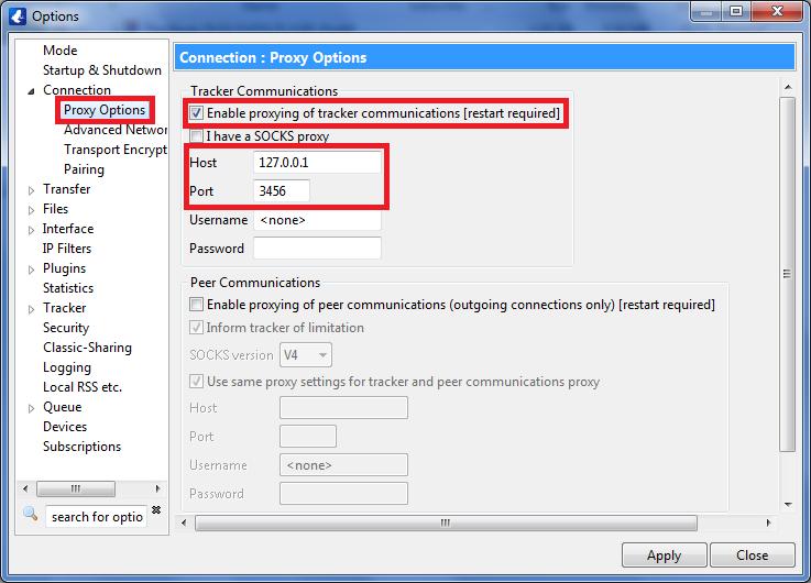 vuze proxy settings