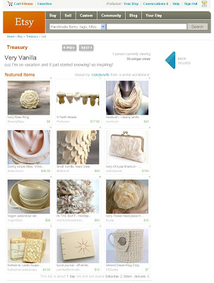 Etsy treasury, my teeth beads again :)