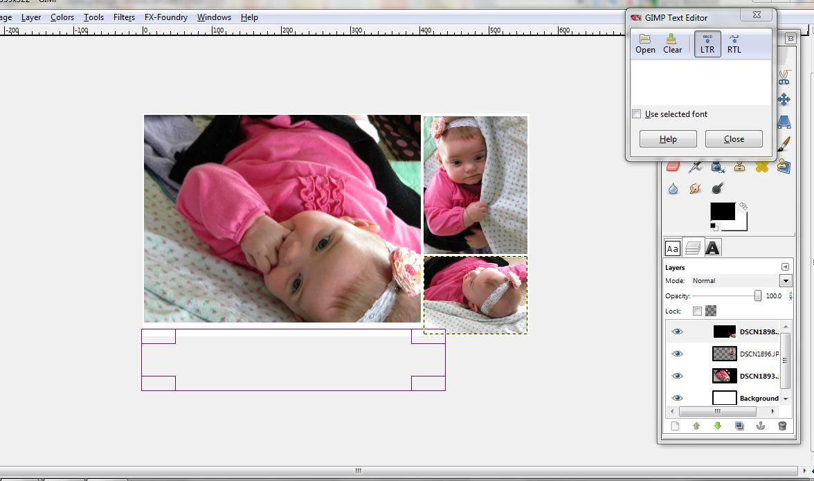 fotomontaje añadir caja texto