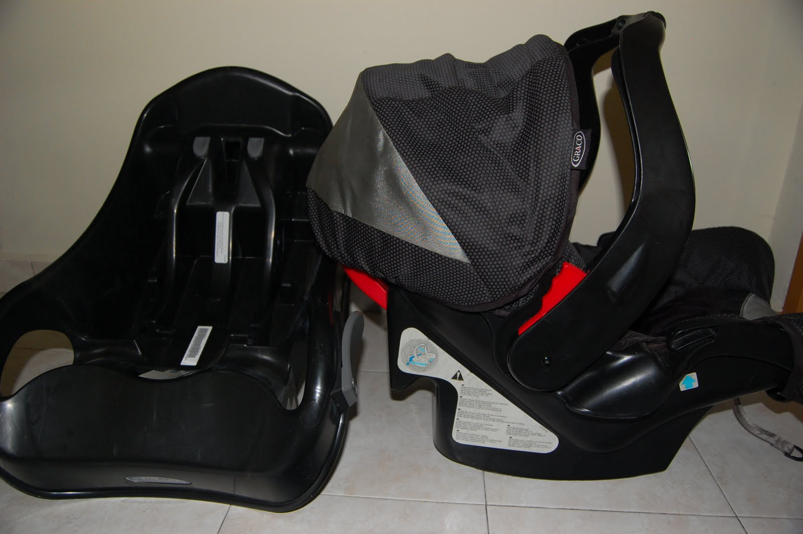 Preloved Graco Junior Baby Car Seat And Base