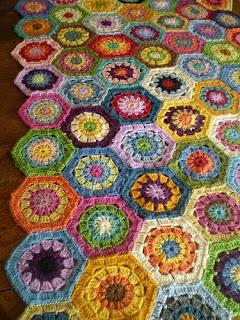 Crochet Hexagon Afghan Patterns