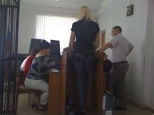 Наша потерпевшая и Чернышов С.В. в суде...
