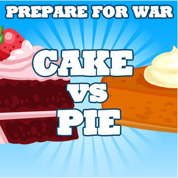 cake vs pie essay Dessert is a confectionery course that concludes an evening meal the course  usually consists  can include various fruits more complex desserts include  cakes, pies and cookies, which are sometimes served during special occasions.