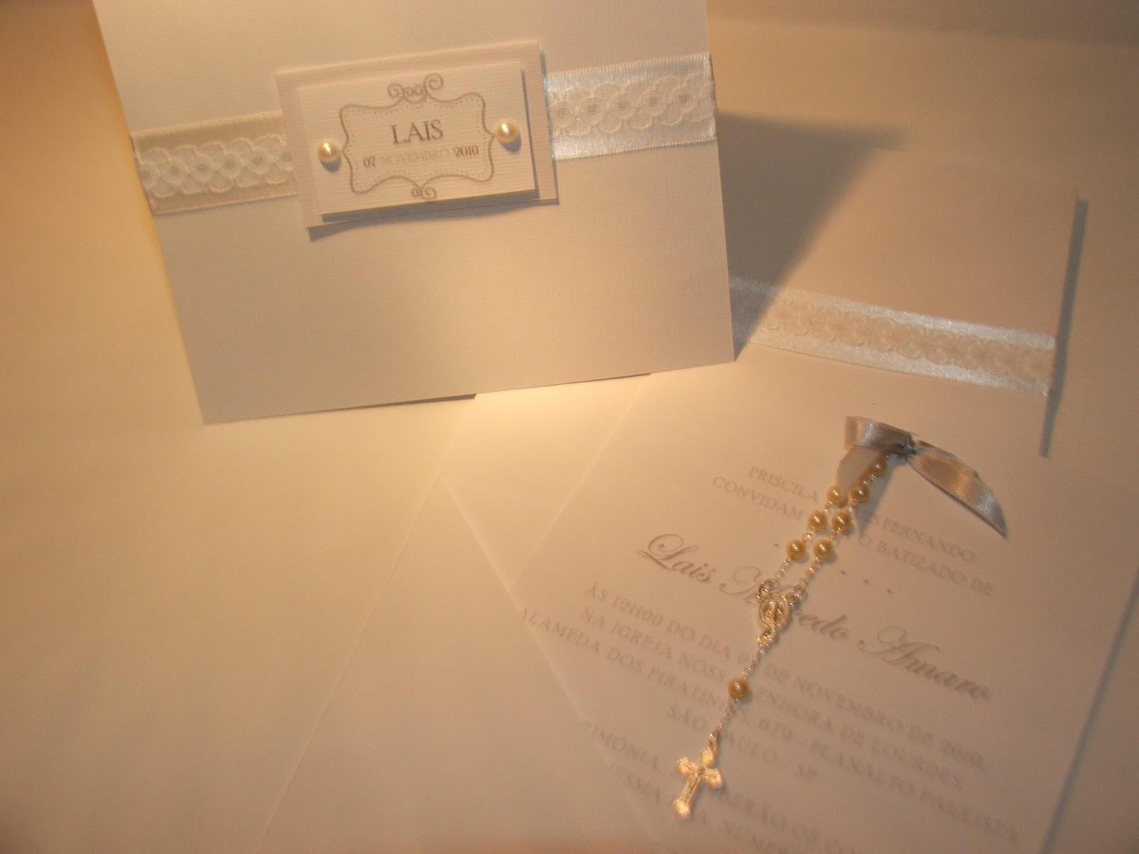 Due Madri Convite Batizado Branco
