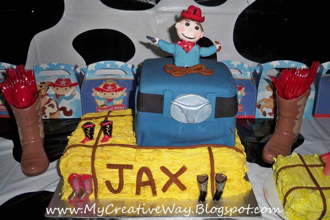 My Creative Way Cowboy 1st Birthday Cake