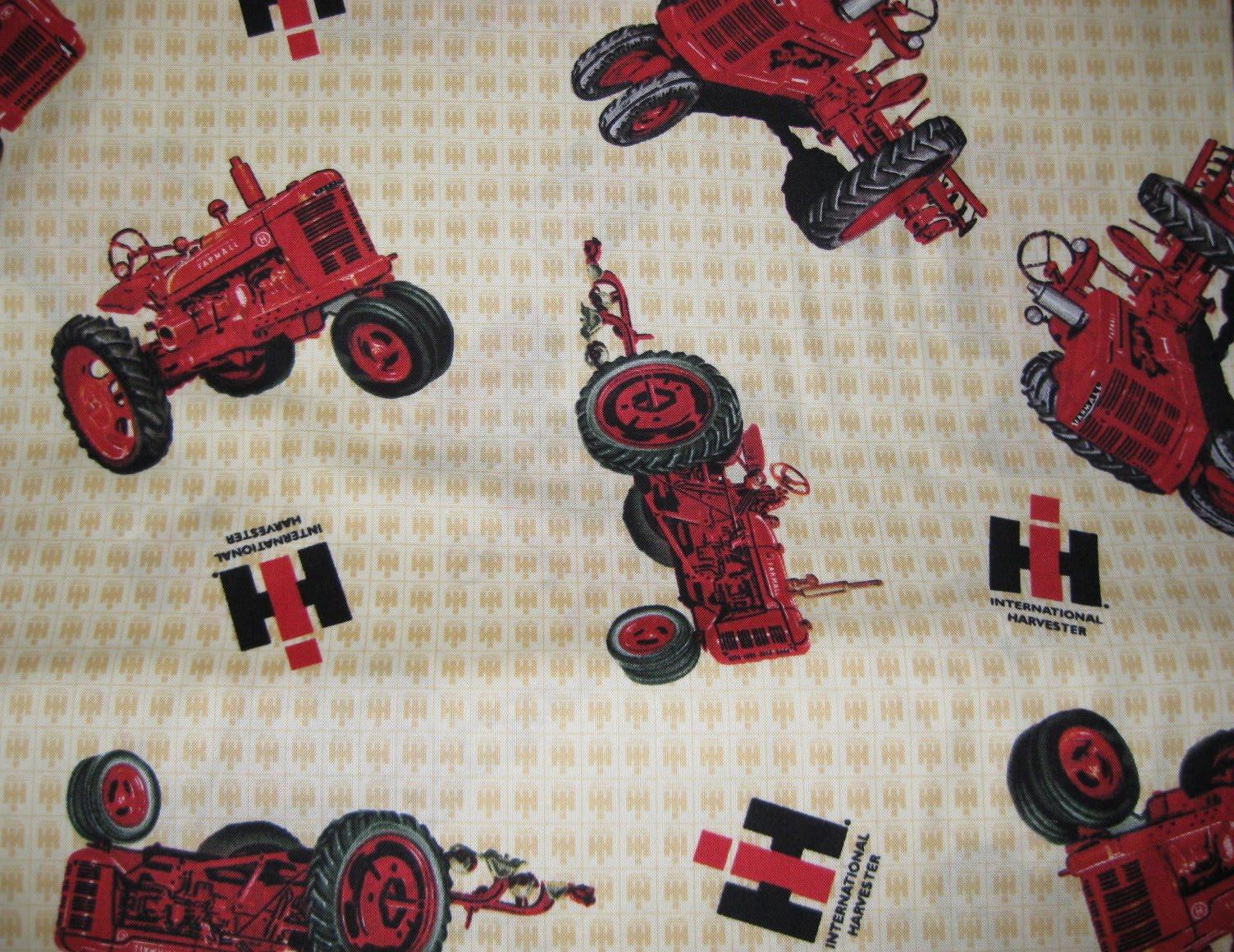 Case International Tractor Fabric : Julie s quilt