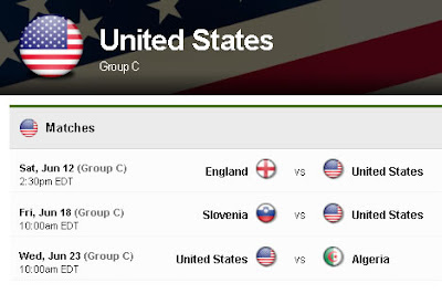 Snapshot from the Yahoo! United States page which includes one large round U.S. flag at the top, and several small round flags representing the U.S. and its opponents