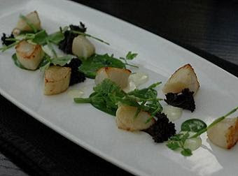 """Sea scallop meat and pearls"" - a superb, balanced dish showing great technique"