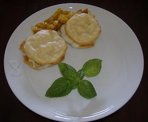 Plums & Gorgonzola Chip Cookies in a Sandwich Shape