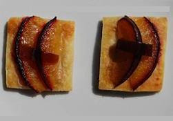 Short Savoury Pastry with Blue Cheese, Plum and Sweet & Sour Cinnamon Pickle Glaze