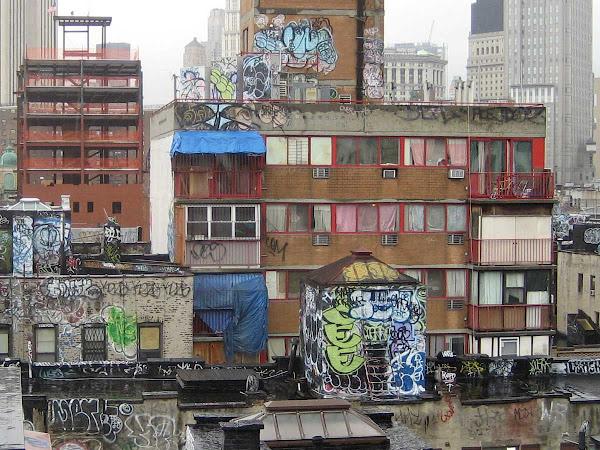 Chinatown Rooftops 3 - From the Manhattan Bridge.
