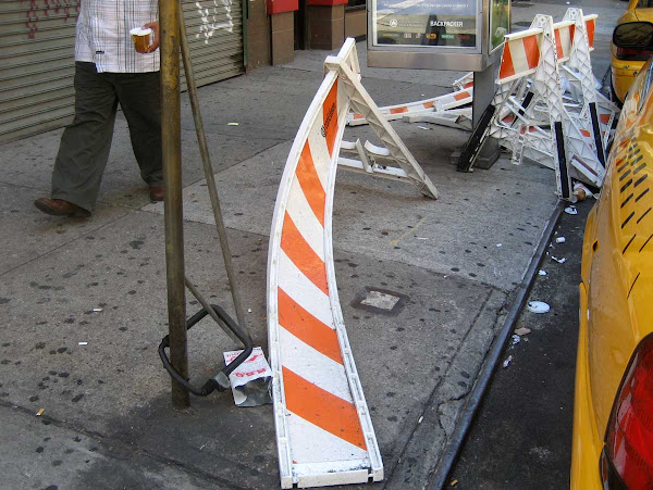 Caution Barrier Obstacle Course - On Lexington near 24th St.
