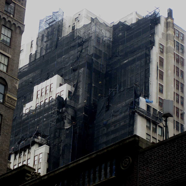 Brooding Scaffold - On 38th St. off 6th Ave.