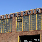 Hunters Point Steel Sign - On Hunters Point Ave. in Queens.