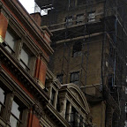 Dark Tower Scaffold - Down now, the scaffolding was on the McIntyre Building at Broadway & 18th St.