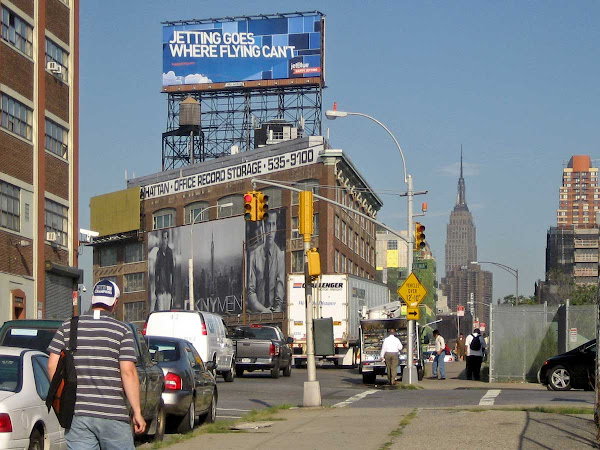 Ad World - A building worth more outside than inside, at 49th Ave. near 21st St. in LIC.