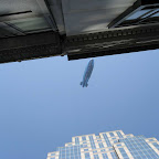 Blimp Above 5th Ave. - Like a fish at the aquarium glass.