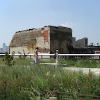 High Line Meatpacking Ruin - Tourists ponder a relic of Meatpacking Past.