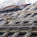 Up from Broadway 1 - Looking up towards the columns of 840 Broadway.