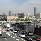 Widescreen Queens - From Greenpoint Ave. over the Long Island Expressway.