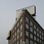 Blank Billboard Boat - Sailing toward you on Hunters Point Ave. in Long Island City.