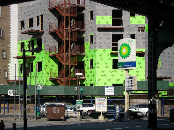 BP Spills Green - On Broadway off Union Ave. in Williamsburg.