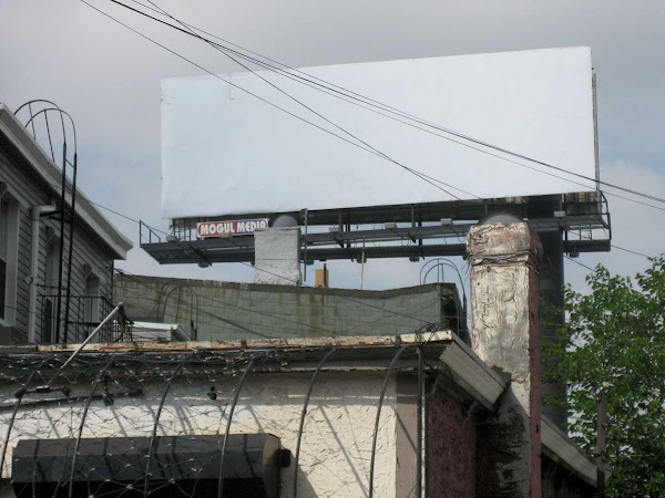 Disappearing Blank Billboard - Disappearing into the sky, from Graham Ave. in Williamsburg.