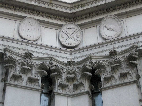 Beaver Barrel Windmill - Tulip barrels?  Dutch plates on the Manhattan Municipal Building.