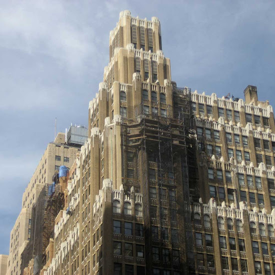 8th Ave. Scaffolding - Above 36th St. a while ago.