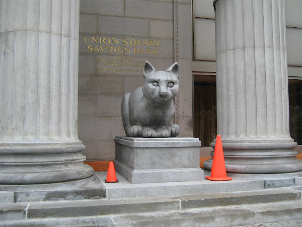 End of Days - Feline idol at Union Square East and 15th St.