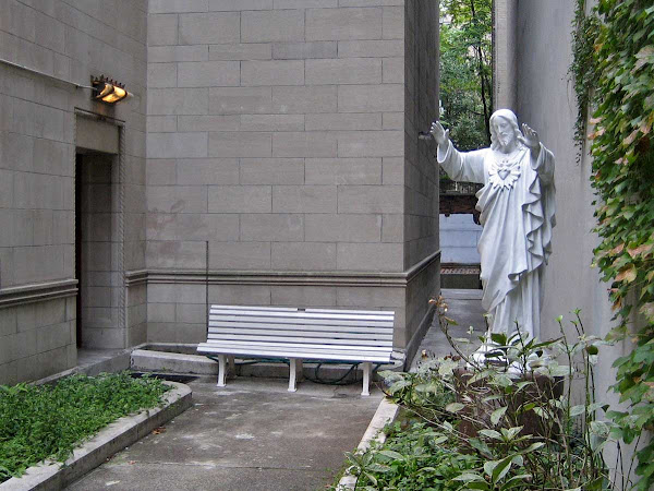 Jesus Guards His Bench - Next to Church of Our Saviour at Park Ave. So, & 38th St.