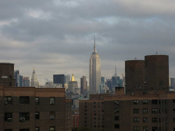 Empire State Light - From the Williamsburg Bridge.