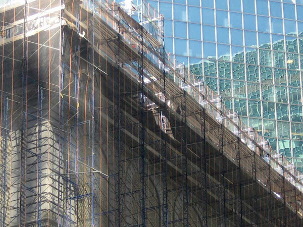 Racquet Scaffold - During work at the Racquet & Tennis Club, at Park Ave & 52nd St.