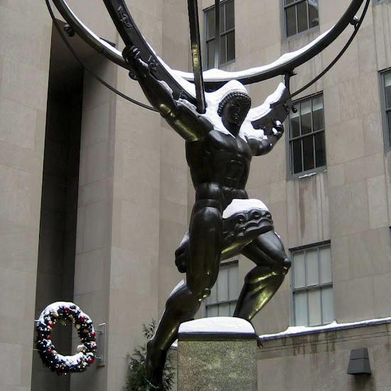 Loin in Winter - Atlas on 5th Ave., at Rockefeller Center.