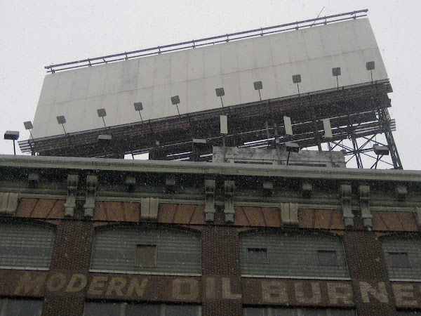 Snowy Blank Billboard - On 21st St. just off 49th Ave. in Long Island City, Queens.