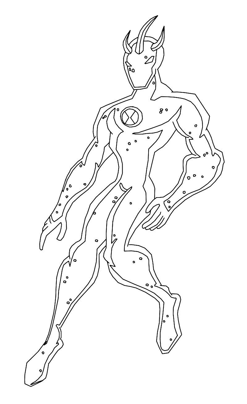 Free Coloring Pages Of Ben 10 Ultimate Goop