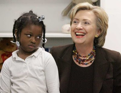Hillary Clinton is laughing at this child's ignorance of the power of the California Supreme Court.
