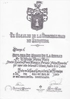Diploma de la Municipalidad de Arequipa - Declaración de Visitante Ilustre - 1994.