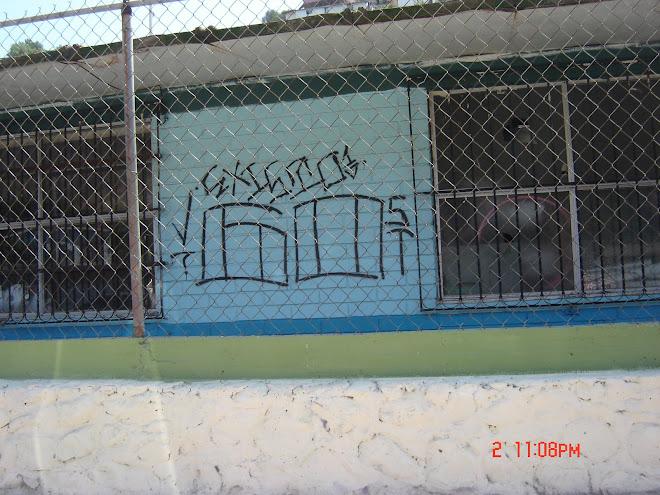 Grafitti en escuela de Cañon de los Laureles
