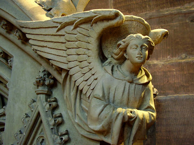chester cathedral, carved angel