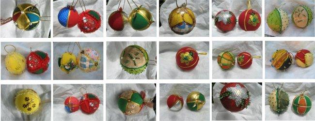 Hilos del viento bolas navide as decorativas - Bolas de navidad grandes ...