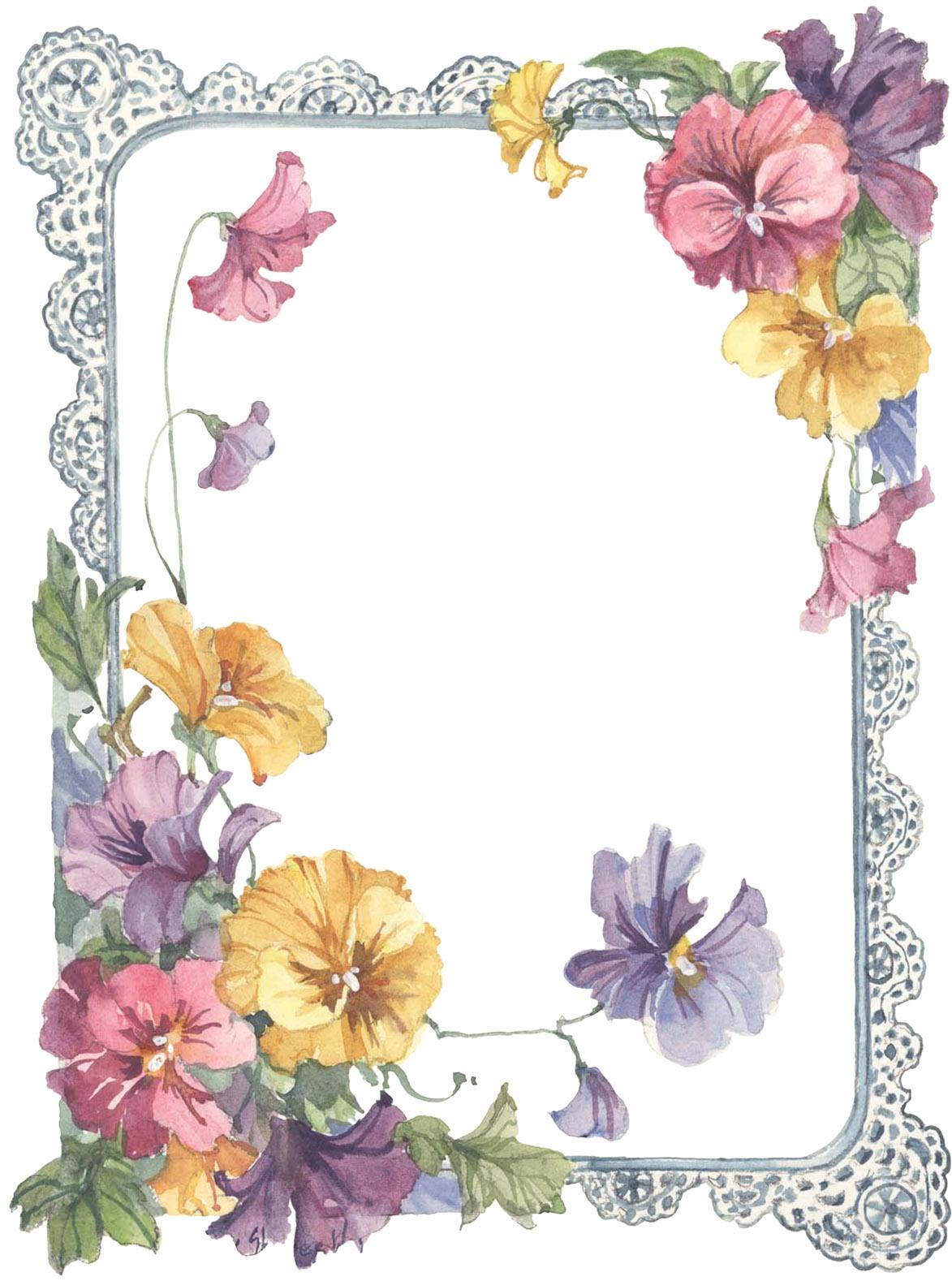 Frame Para Decorar Fotos Con Flores