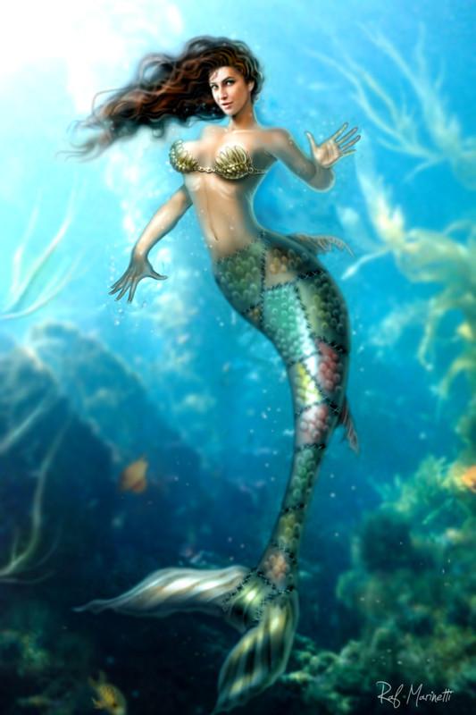 mermaid nude