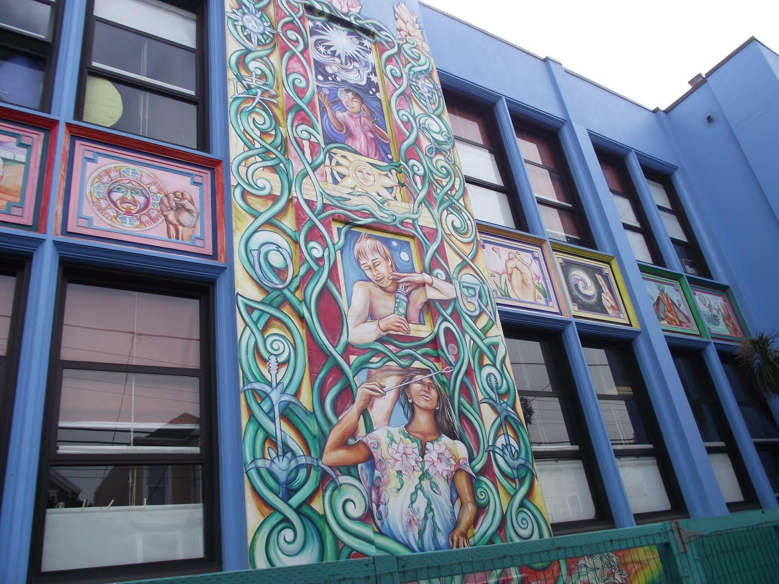A different drummer cesar chavez elementary murals san for Cesar chavez mural