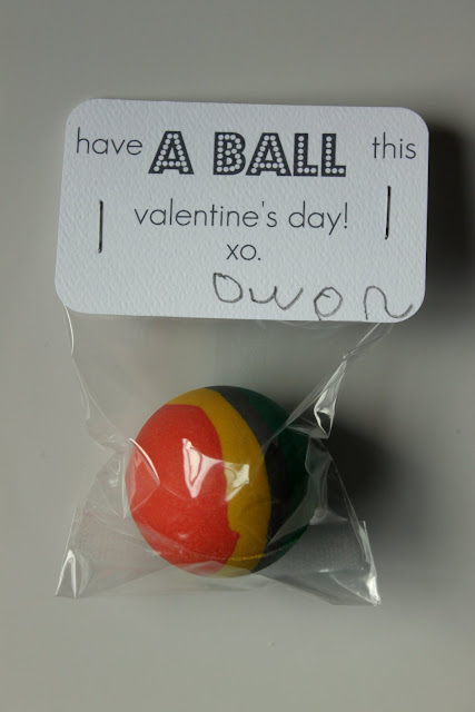 Ball + 21 non candy valentines