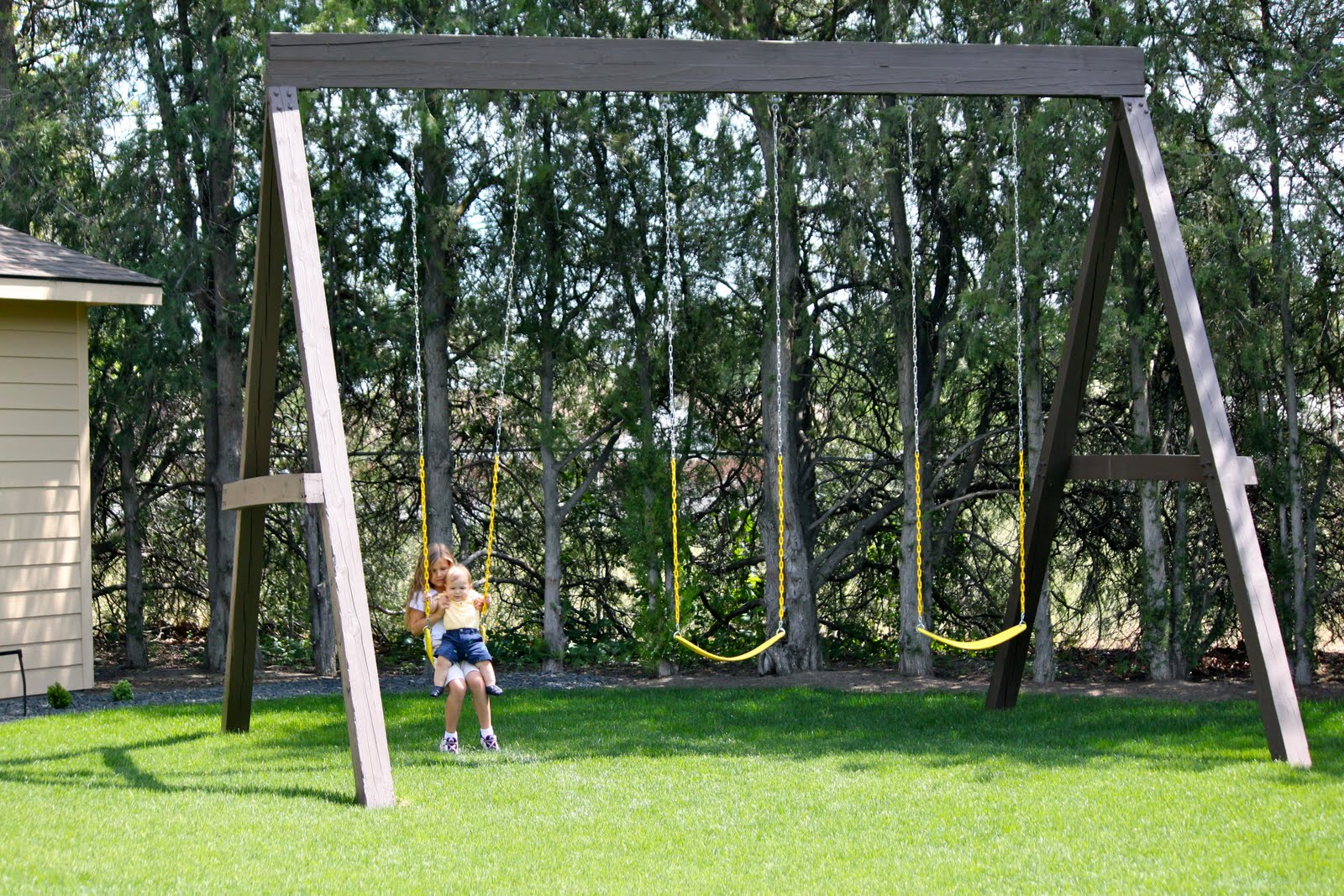 Extra tall swing sets just b cause for How to build a swing set for adults