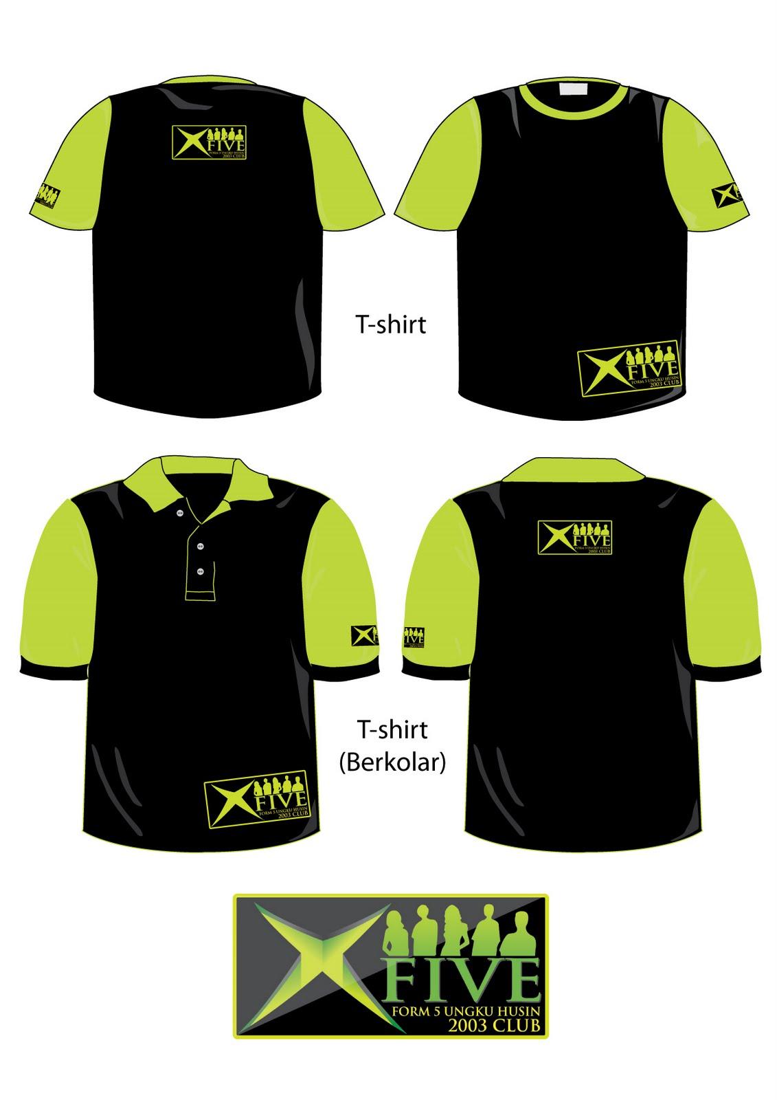 Designs contoh baju t shirt design baju berkolar shirt berkolar - Contoh Design T Shirt Kelab X5 Smkuh Design A Design B