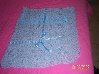 Manta a Crochet para Bebe con Piñas en el Borde